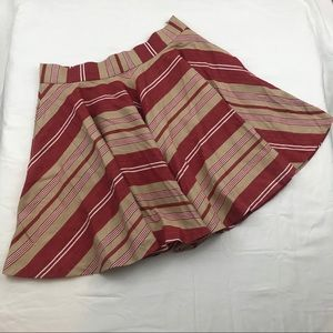 NWT Zara Red and Tan striped Circle Skirt